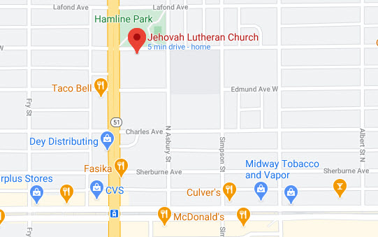 Map of Jehovah's location